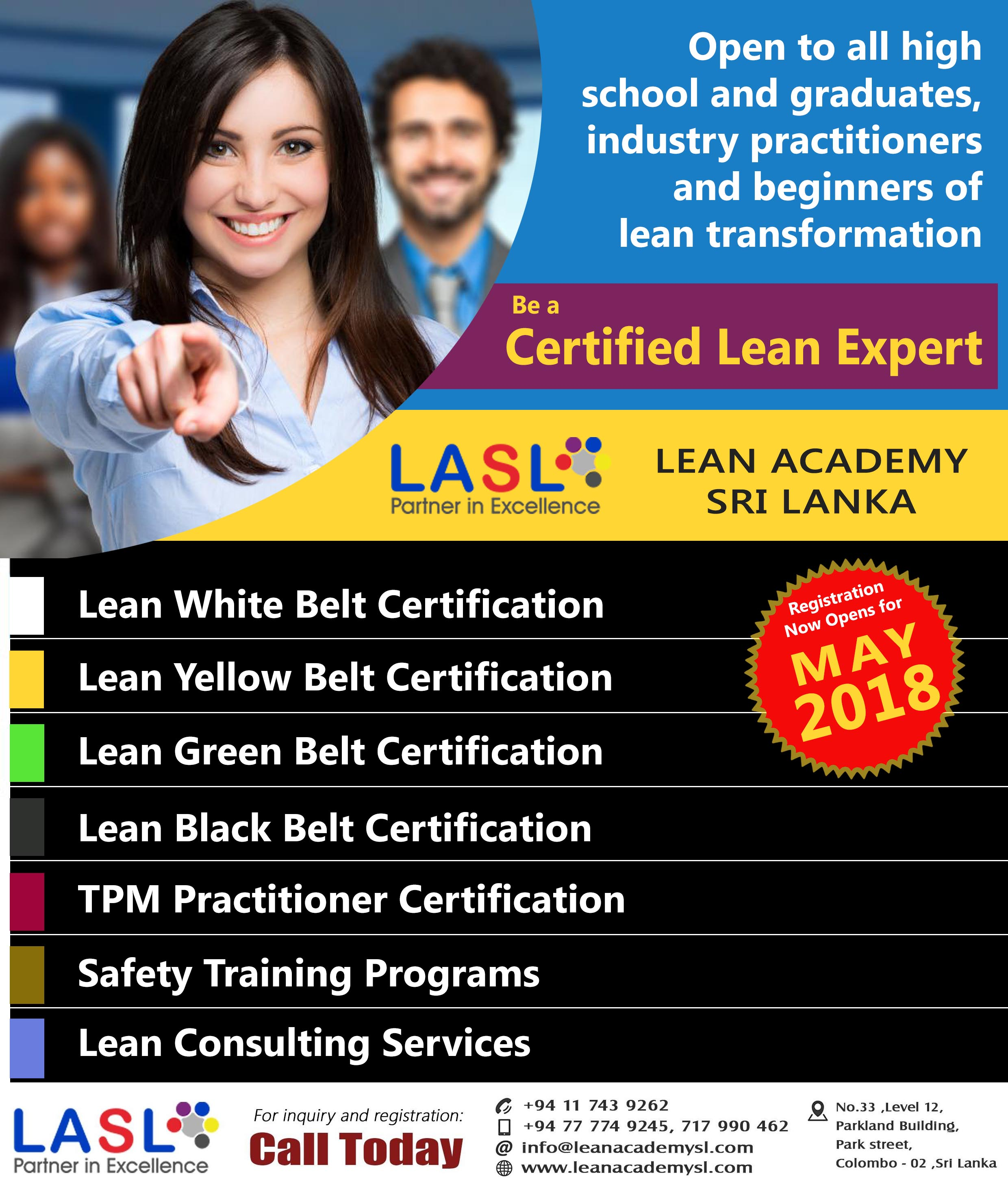 LASL Registrations Now Open for May 2018