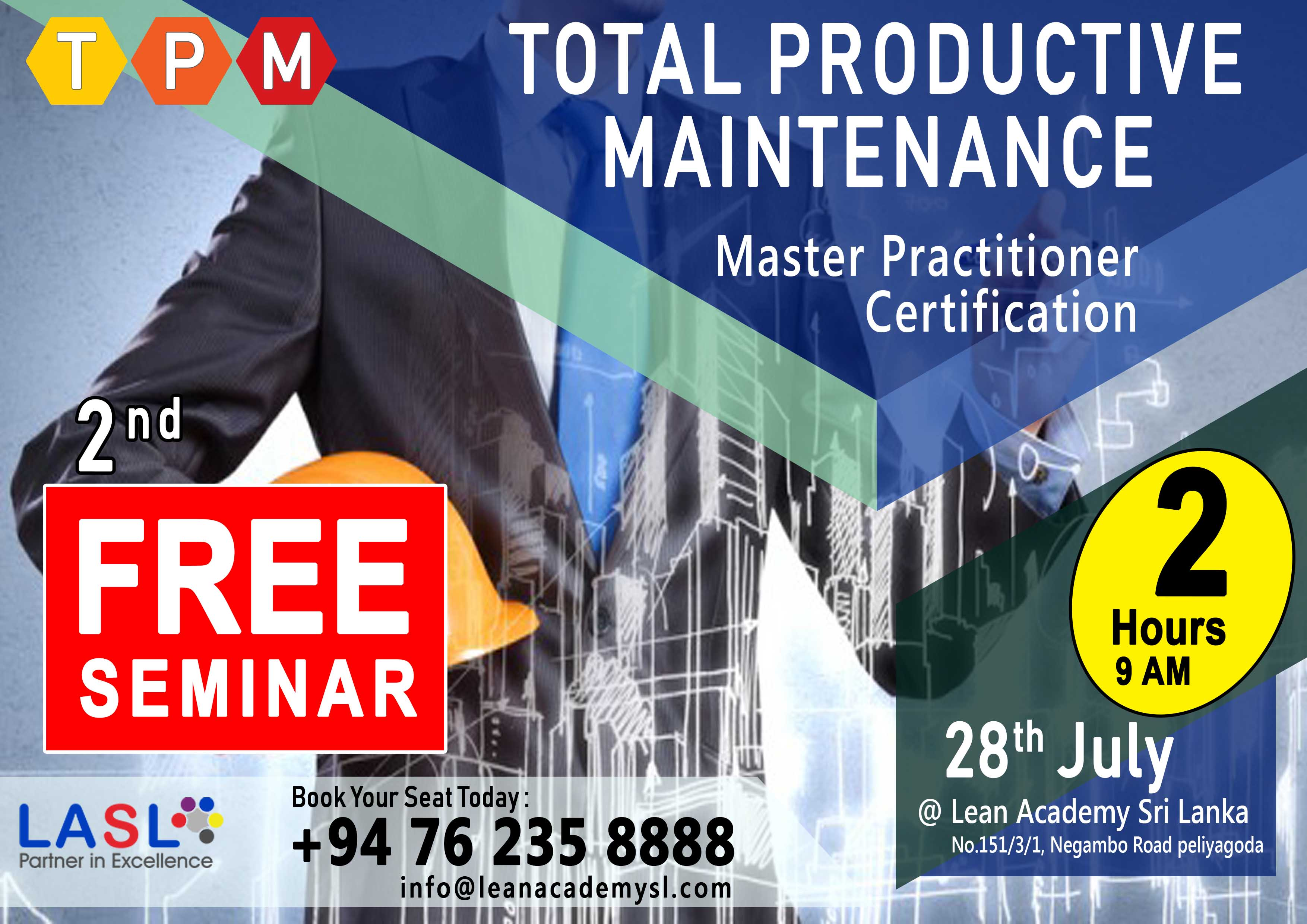 2nd Free Seminar for TPM Master Practitioner Certificate